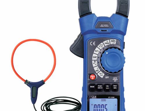Pinza ac/dc CAT IV 600 V, con sensor flexible hasta 3 kA ac DT-3376+CP20